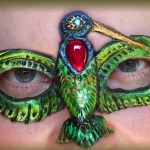 Ruby Throated Hummingbird Mask