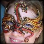 Red Gold Dragon Mask